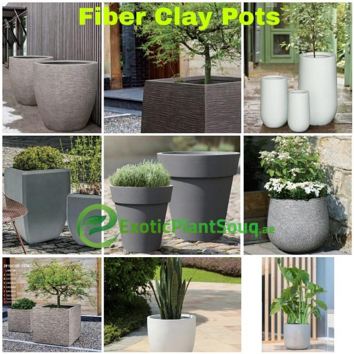 Fiber Clay Pots
